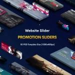 Promotion Website Sliders – 50 PSD