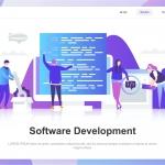 Software Development Flat Concept
