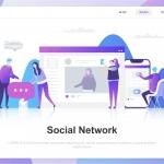 Social Network Flat Concept