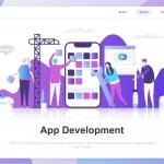 App Development Flat Concept