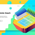 Tennis Court – Banner & Landing Page